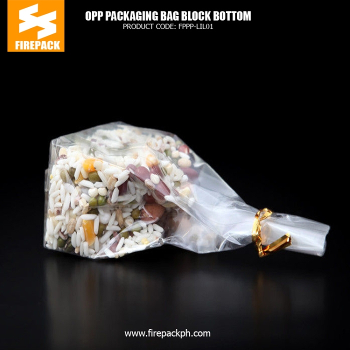 Candy -Snack Food OPP Customized Packaging Bags - Block Bottom Bags kuwait plastic supplier
