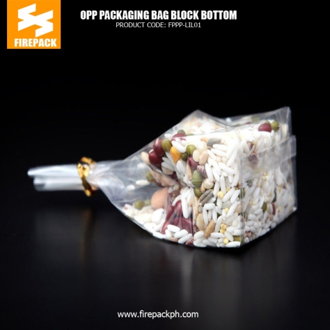 Candy -Snack Food OPP Customized Packaging Bags - Block Bottom french plastic supplier