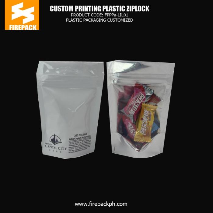 Candy , Snack Food Plastic Ziplock Bags Custom Printed BHARAIN SUPPLIER