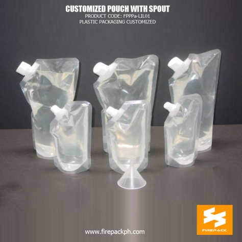 Clear Customized Spout Pouches Moisture Proof Stand Up For Juice supplier manila
