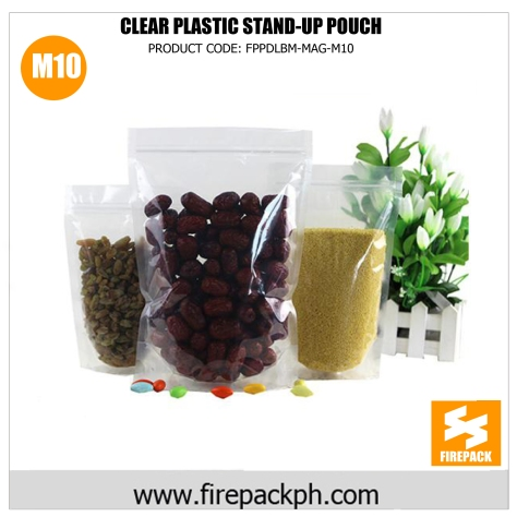 clear plastic stand up pouch supplier m10