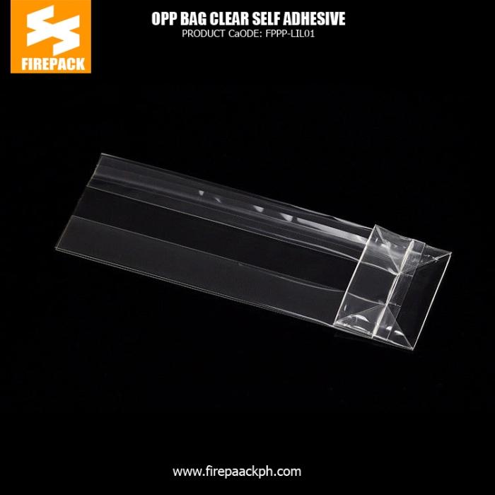 Clear self adhesive cellophane opp bag definition opp header bag packingpoly bags firepack ph