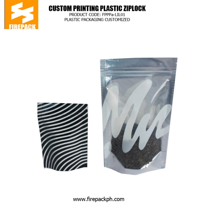 Clear Window Foil Ziplock Bags Stand up , Plastic Bag with Zipper for Tea kuwait supplier