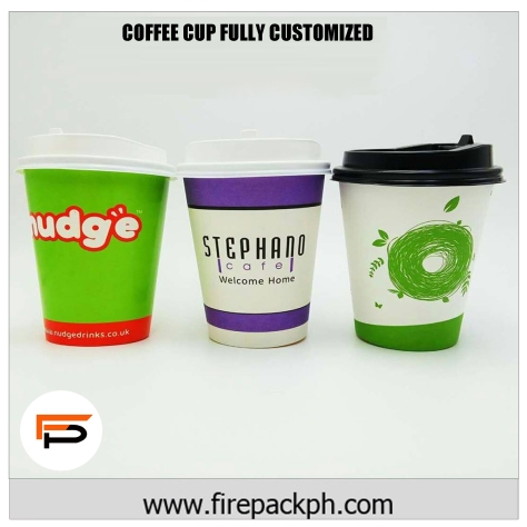 coffee cups fully customized