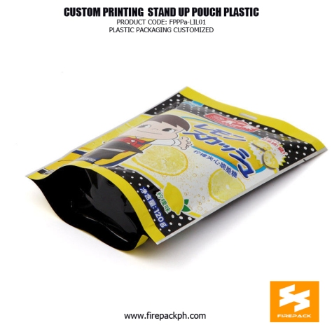 Colorful Eco-Friendly Heat Seal Snack Food Stand Up Pouches supplier manila