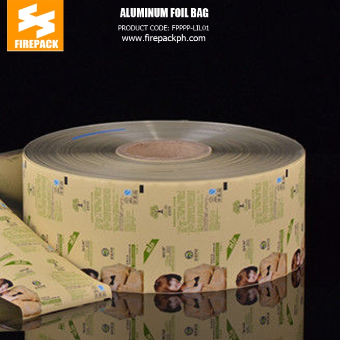 Compounded Material Laminated Foil Customized Printing Aluminum Foil Roll firepack