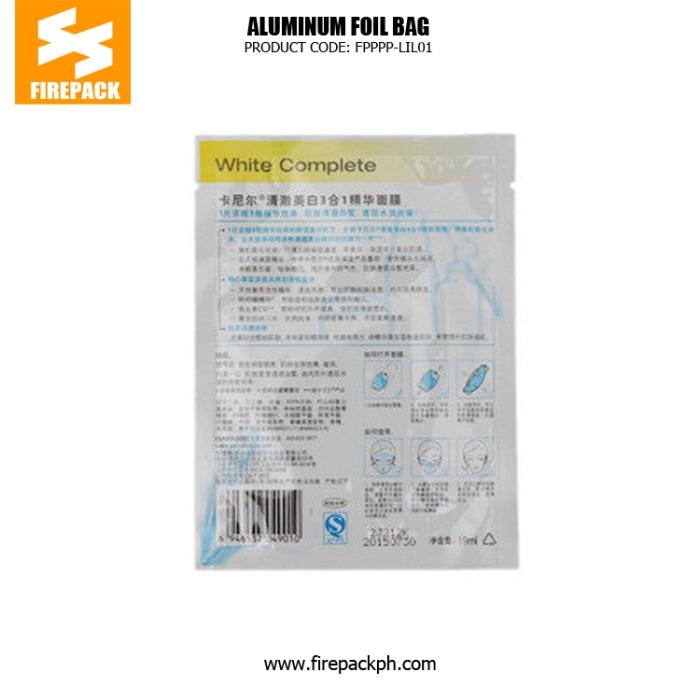 Cosmetic Aluminum Foil Packaging Bag Moisture Proof For Facial Mask supplier firepack