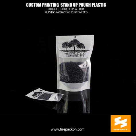 Custom Logo Packing Printing Stand Up Pouches Resealable Plastic Gusseted Bags firepack