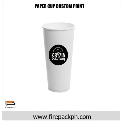 custom print paper cups supplier