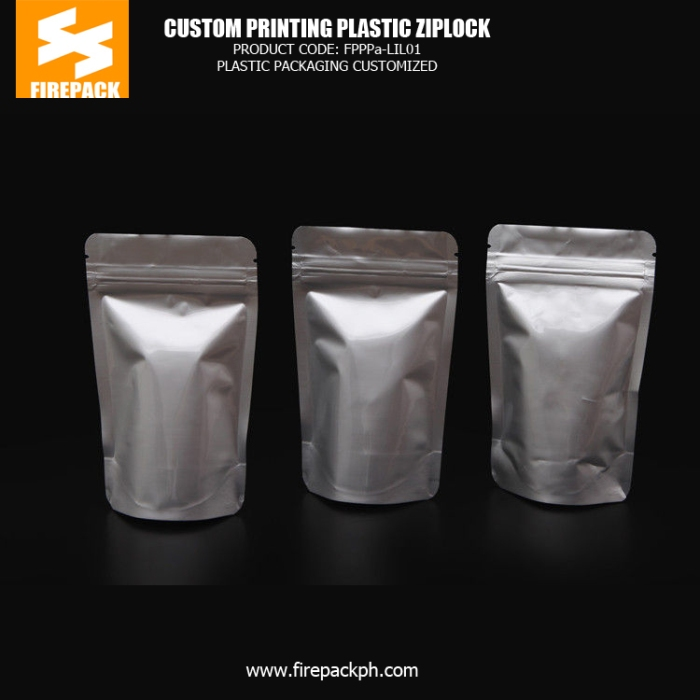 Custom Printed Aluminium Foil AL - PE Plastic Ziplock Bags bahrain supplier