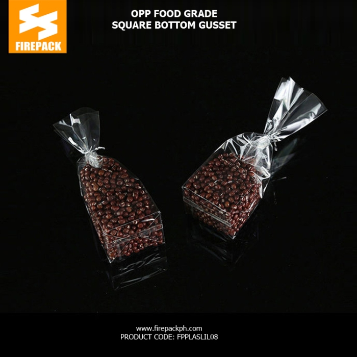Custom Printed Clear Plastic OPP Packaging Bags Food Grade Cellophane Gift Bags supplier firepack