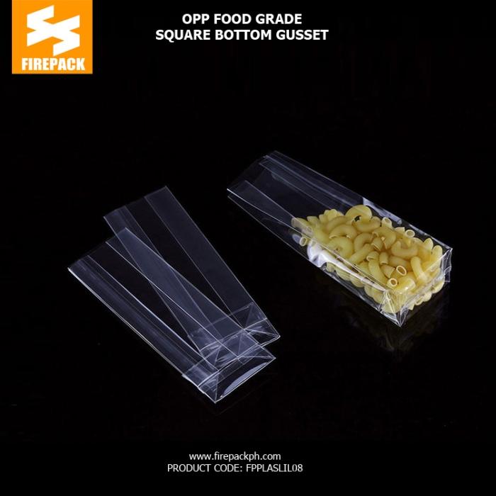 Custom Printed Clear Plastic OPP Packaging Bags Food Grade Cellophane supplier firepack