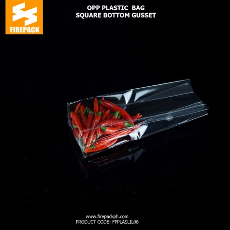 Custom Printed Clear Plastic OPP Packaging Bags Food Grade Cellophane supplier philippines