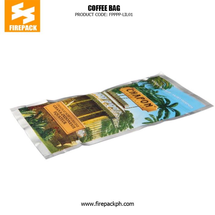 Custom Printed Laminated Coffee Bag Packaging , Lightweight Zipper Bag supplier cebu