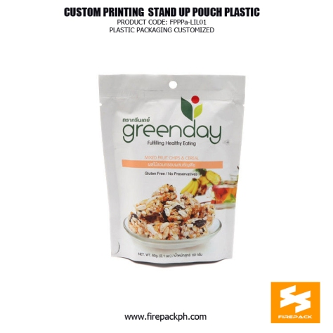 Custom printed Moisture Proof Stand Up Pouches For Snack Food manila supplier cebu