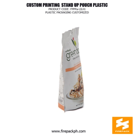 Custom printed Moisture Proof Stand Up Pouches For Snack Food manila supplier