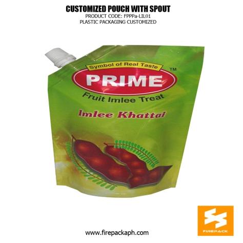Custom Printed Plastic Spout Pouches with Spout for Hot Jam- Sauce -Juice saudi supplier