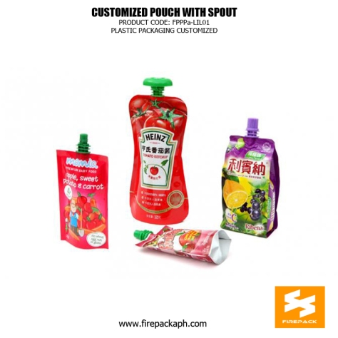 Custom Printed Recyclable Spout Pouches Stand Up For Juice canada supplier