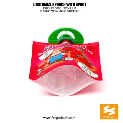 Custom Printed Recyclable Spout Pouches Stand Up For Juice kuwait supplier