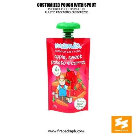 Custom Printed Recyclable Spout Pouches Stand Up For Juice usa supplier