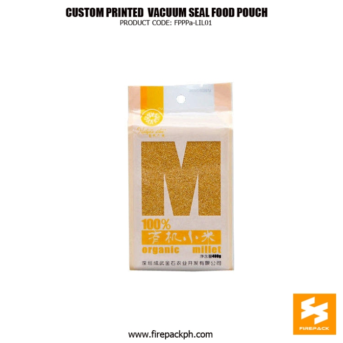 Custom Printed Vacuum Seal Food Bags With Heat Sealing , NY -PE firepack manila