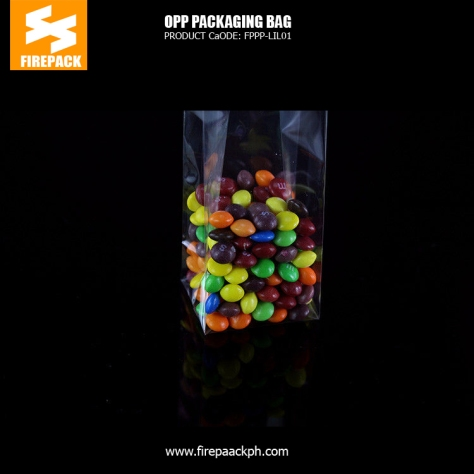 Custom recycled transparent OPP Packaging Bags clothes square buttom bag manila supplier bahrain