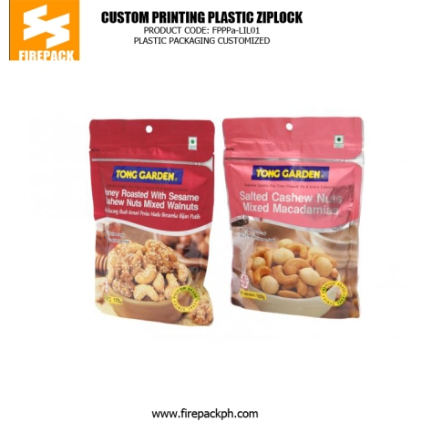 Customize Foil Stand Up Plastic Ziplock Bags For Packing Nut firepack manila