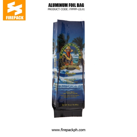 Customize Gusset Coffee Packaging Bags With Degassing Valve firepack