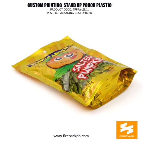 Customize Laminated Plastic Stand Up Bag For Pumpkin Snacks supplier firepack