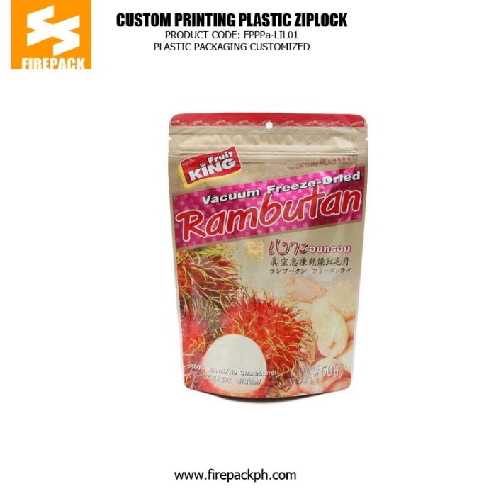Customize Plastic Ziplock Bags For Packing Vacuum Freeze Food 1 firepack manila