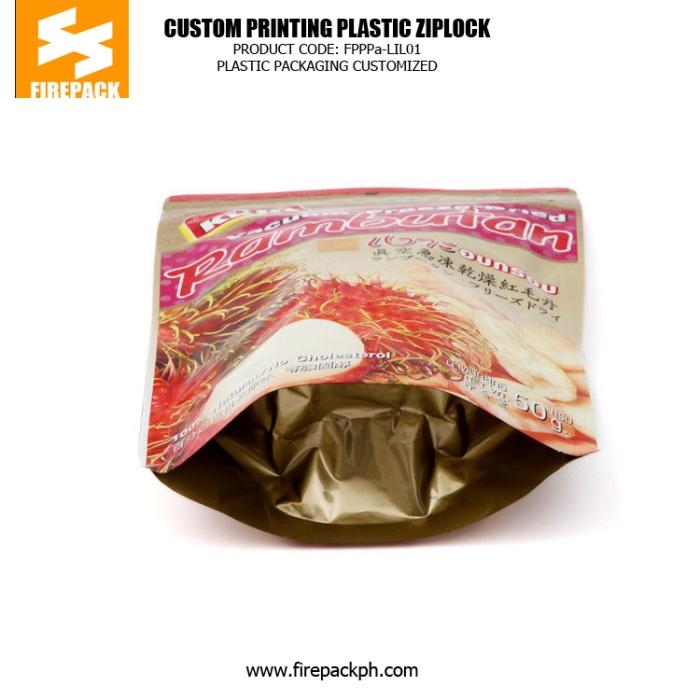 Customize Plastic Ziplock Bags For Packing Vacuum Freeze Food firepack