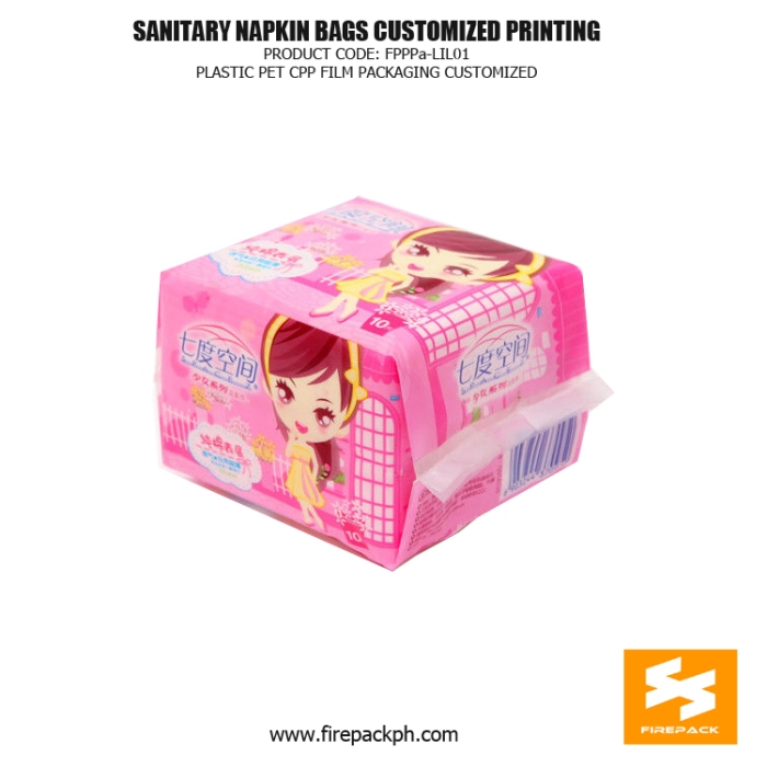 Customize Printed Sanitary Napkin Disposal Bags , Pet Cpp Film Packaging Bag firepack packaging