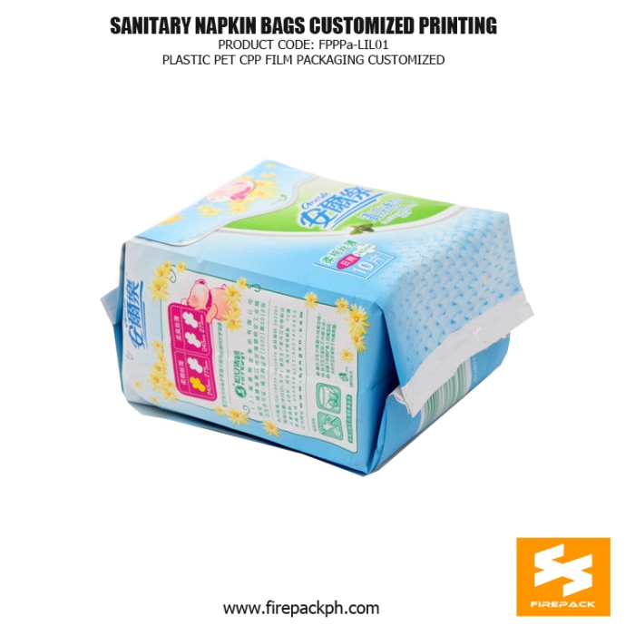 Customize Printed Sanitary Napkin Disposal Bags , Pet Cpp Film Packaging Bag malaysia