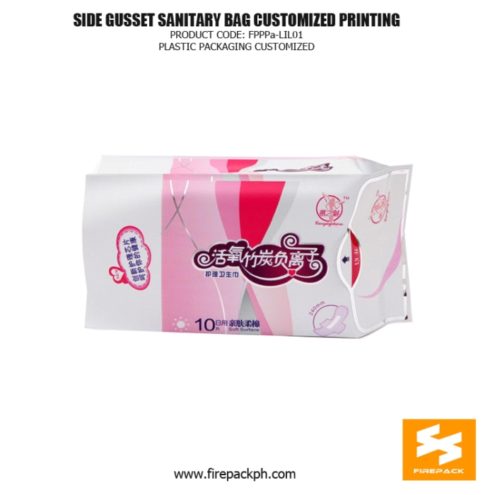 Customize Recyclable Gusset Sanitary Napkin Bags - Pouches thailand supplier