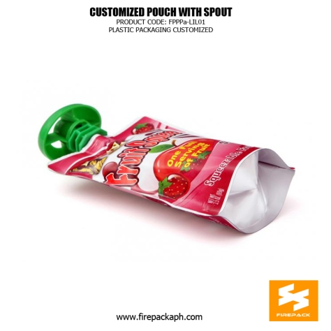 Customize Spout Pouches With Stand Up For Soymilk And Drinks firepack