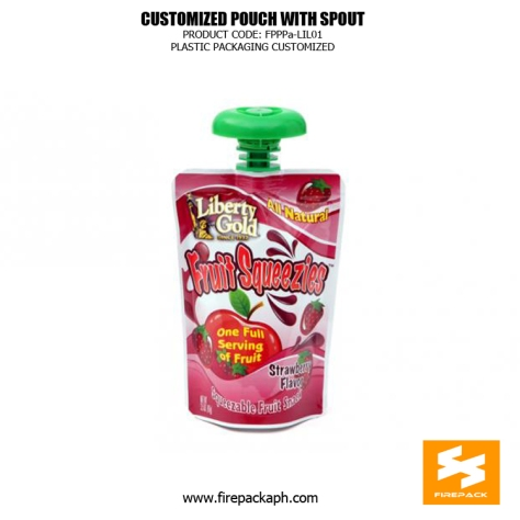 Customize Spout Pouches With Stand Up For Soymilk And Drinks supplier cebu