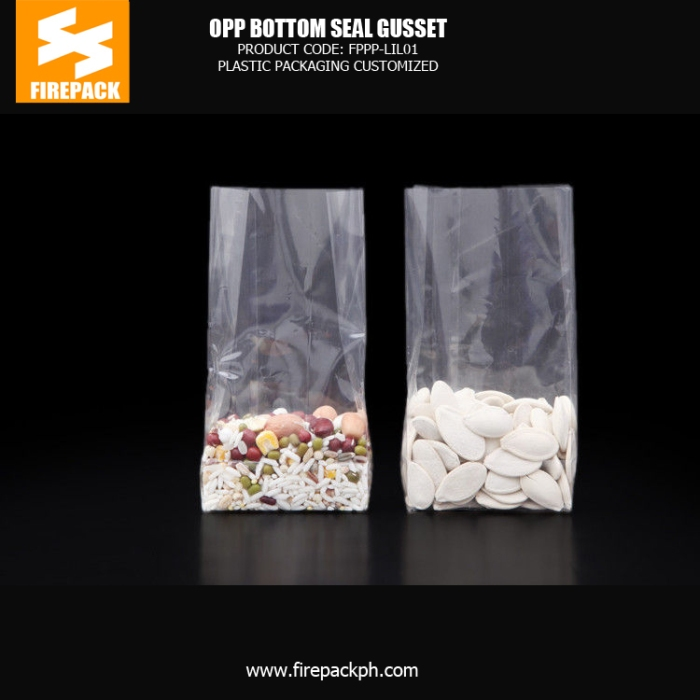 Customize Transparent OPP Packaging Bags , Gift - Candy OPP Square Bottom Bags manila supplier plastic