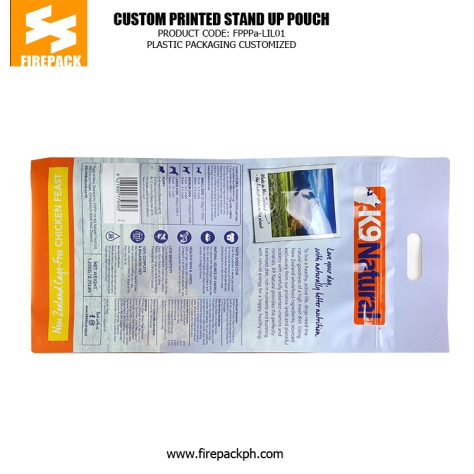Customized Pet Food BagsGravure Printing Standing up Pouch Packaging canada plastic supplier
