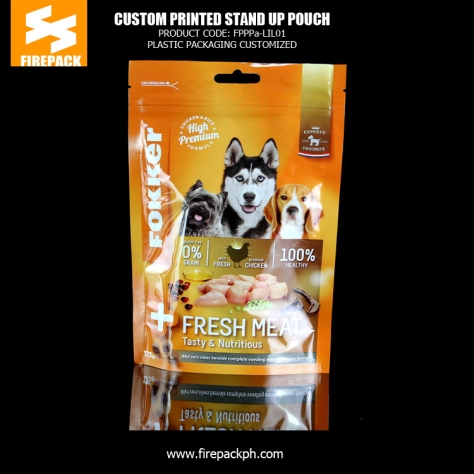 Customized Pet Food BagsGravure Printing Standing up Pouch Packaging saudi plastic supplier