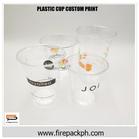 customized plastic cups