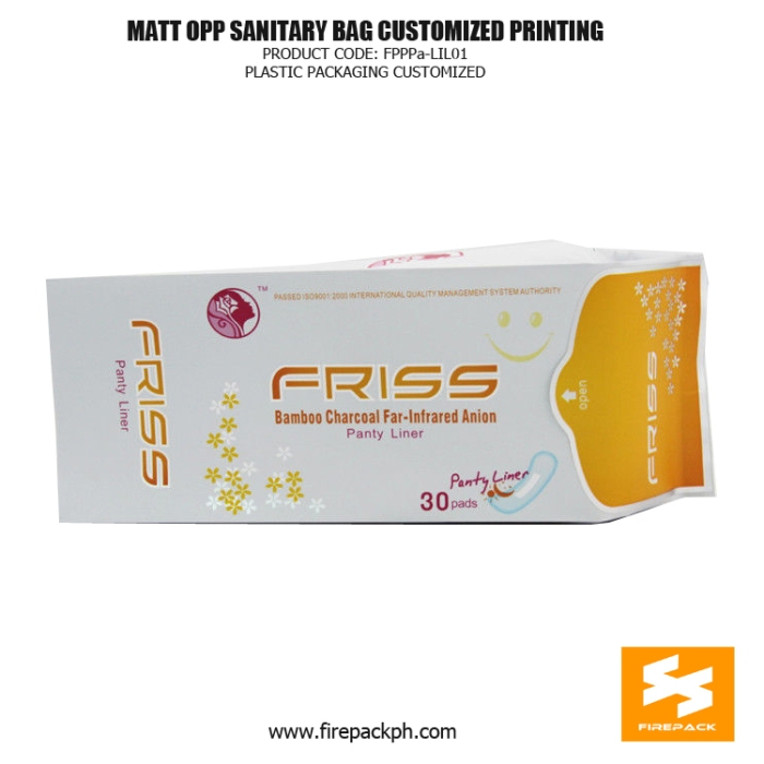 Customized Sanitary Napkin Bags Matt - OPP With Gravure Printing firepack ph