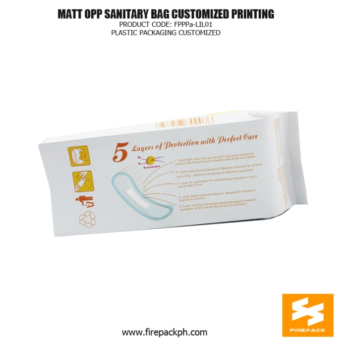 Customized Sanitary Napkin Bags Matt - OPP With Gravure Printing korea supplier