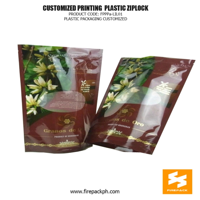 Disposable Stand up Pouch Plastic Ziplock Bags for Snack Food - Frozen Food firepack