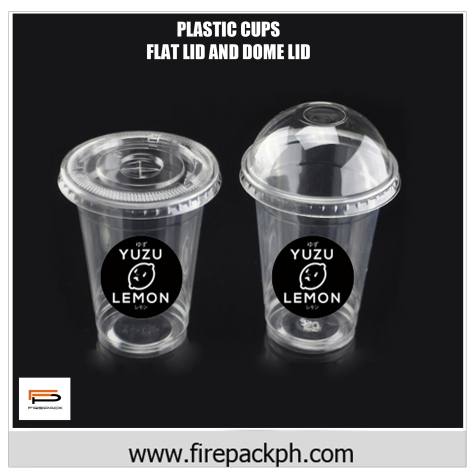 dome lid and flat lid plastic cups