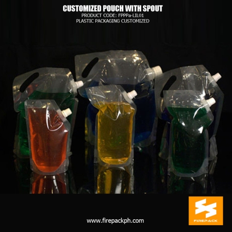 Doypack Pouch with Spout and Cap ,Stand up Spout Pouches for Liquid firepack