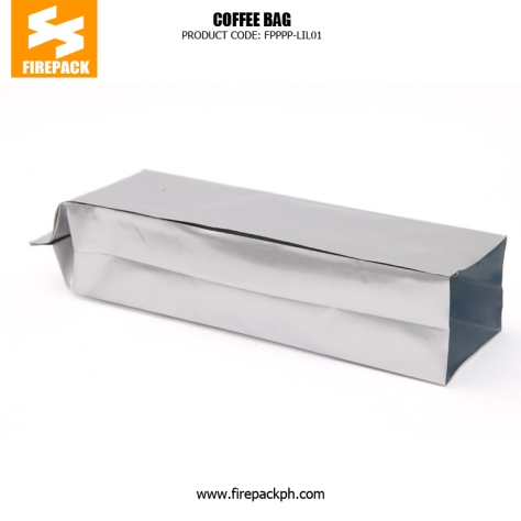 Eco-Friendly Coffee Packaging Bags , Aluminium Foil Side Seal Gusset Bag supplier cebu firepack