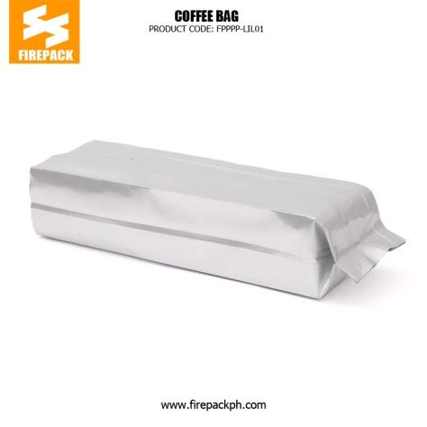 Eco-Friendly Coffee Packaging Bags , Aluminium Foil Side Seal Gusset Bag supplier cebu