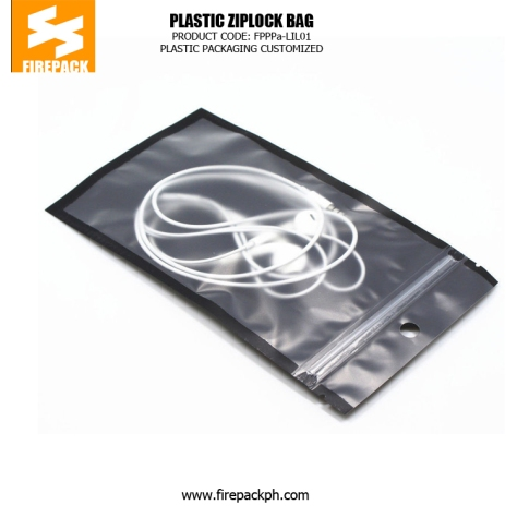 Eco Friendly Plastic Ziplock Bags , Flexible Packaging Pouches With Hang Hole firepack manila