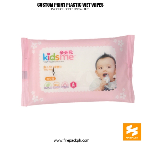 Eco-Friendly Wet Tissue Packaging Heat Seal With Adhesive Sticker manila supplier