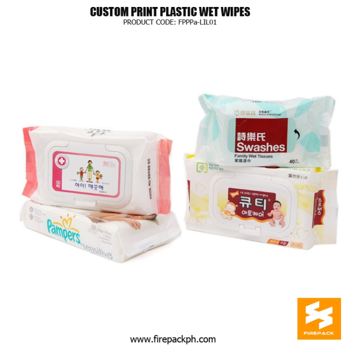 Eco-Friendly Wet Tissue Packaging Heat Seal With Adhesive Sticker supplier manila